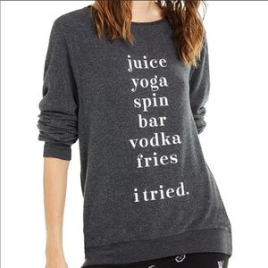 "WILDFOX ""I Tried"" Graphic Sweatshirt Pullover XS"